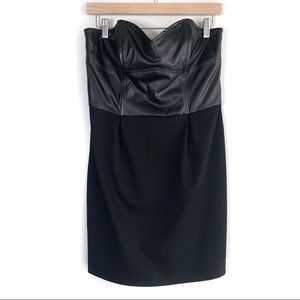 Charlotte Russe Black Strapless Mini Dress, L